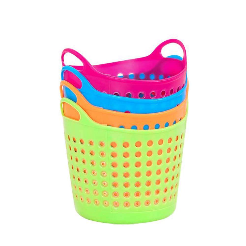 TNGCHI Mini Desktop Storage Basket Plastic Storage Basket Small Paper Bucket Kitchen Bathroom Office Home Random Delivery 8PCS
