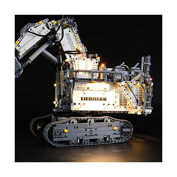 LIGHTAILING Set di Luci per (Technic Power Functions Escavatore Liebherr R 9800) Modello da Costruire - Kit Luce LED… 6 spesavip