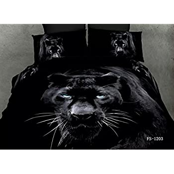 Amazon Com 3d Snow Winter Tiger Bedding Set Polyester