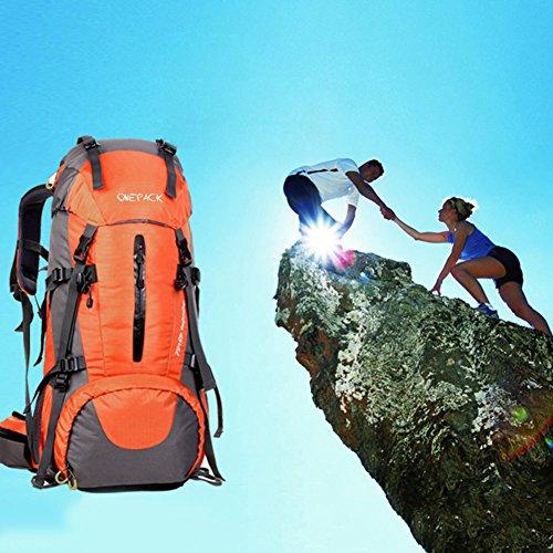 [해외]LANGYS 대용량 방수 Mountaineering Bag (방우 덮개 포함) 남색 / 오렌지 / 블랙 / 다크 블루/LANGYS Large Capacity Waterproof Mountaineering Bag with Rain Proof Cover Unisex Orange / Black / Dark Blue