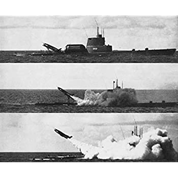 Home Comforts Laminated Poster The U.S. Navy Gato-Class Submarine USS Tunny (SSG-282) Launching a SSM-N-8 Regulus I Missile. Poster Print 11 x 17