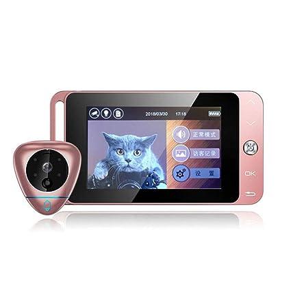 MIAO@LONG Mirilla Inteligente, Cámara De Visión Nocturna HD Sensor De Movimiento PIR Detección