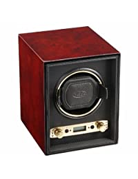 Wolf Designs Unisex Meridian Module 2.7 Single Burlwood Watch Winder 453810