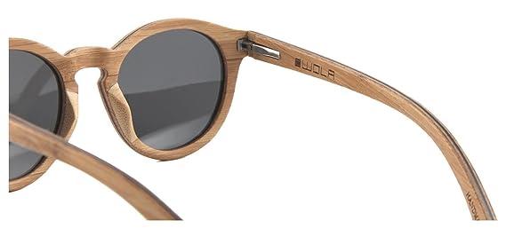 WOLA lunette de soleil en bois SELVA lunettes style rondes femmes UV 400 polarisé Beige rmK6sfAqk