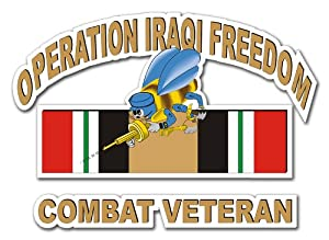 US Navy Seabees Operation Iraqi Freedom Combat Veteran Decal Sticker by MilitaryBest