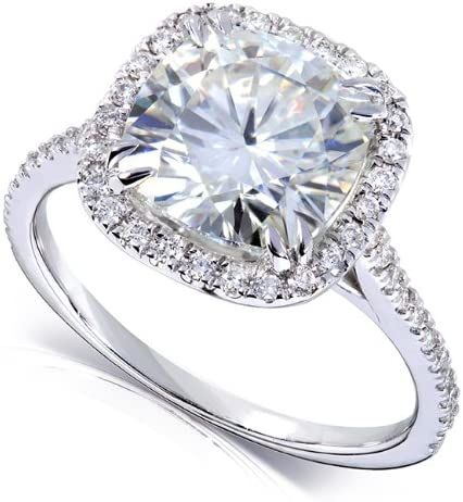 Kobelli Cushion-cut Moissanite Engagement Ring 3 CTW 14k White Gold (8.5mm)