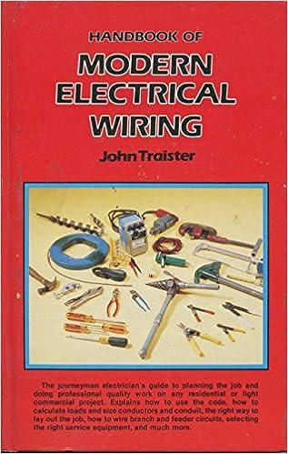 Marvelous Handbook Of Modern Electrical Wiring John E Traister 9780835927543 Wiring Cloud Hisonuggs Outletorg