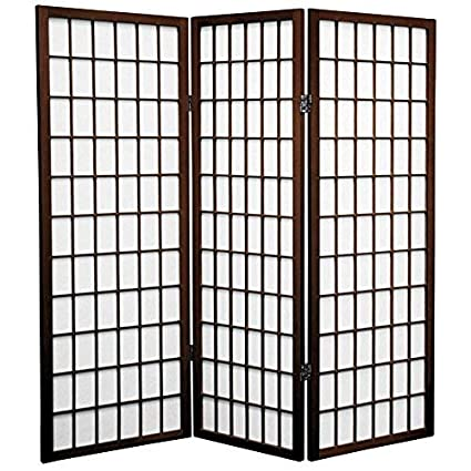 amazon com oriental furniture 4 ft tall window pane shoji screen