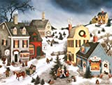 LANG -''Caroling in the Village'', Boxed Christmas Cards, Artwork by Linda Nelson Stocks'' - 18 Cards, 19 envelopes - 5.375'' x 6.875''