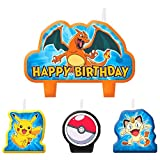 Pokemon Pikachu Birthday Candles 4 Pc