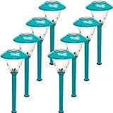 Energizer 8-Piece Solar Color Holding Solar Path Light Set, Turquoise