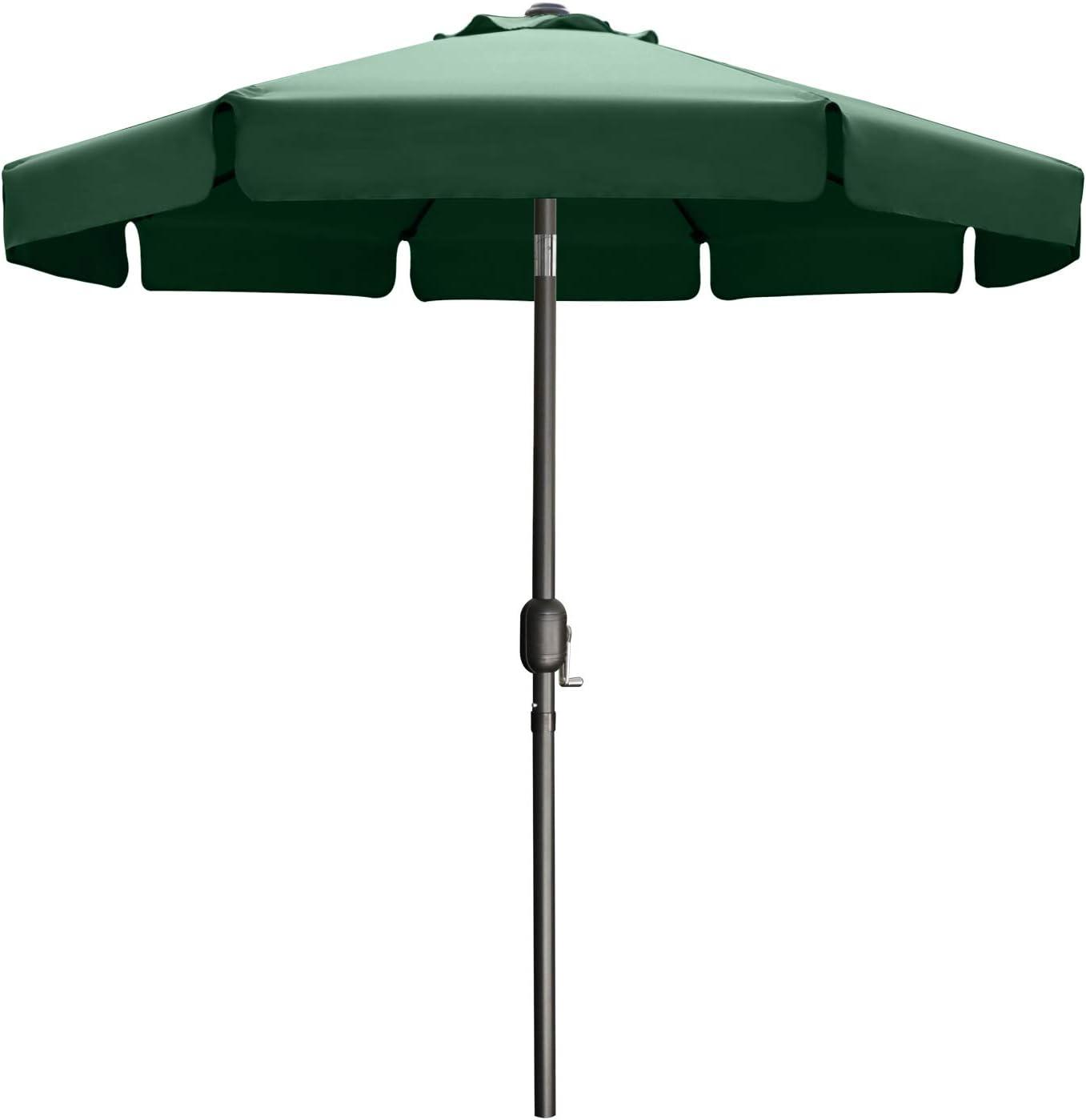 ABCCANOPY 10FT Outdoor Garden Table Umbrella Patio Umbrella Market Umbrella with Push Button Tilt for Garden, Deck, Backyard and Pool, 8 Ribs 13+Colors,Forest Green