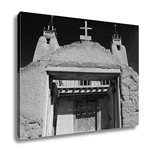 Ashley Canvas San Jose De Gracia Catholic Church In Las Trampas Along The High Road To Taos, Kitchen Bedroom Living Room Art, Black/White 24x30, AG6533320 by Ashley Canvas