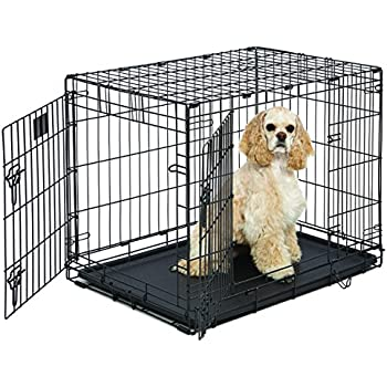 Amazon Com Large Black Wire Dog Kennel Pet Cage 30 Quot X21