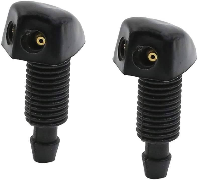 X AUTOHAUX Windshield Washer Nozzle Cleaning Sprayer for Car 36.5 x 20.2mm 2pcs
