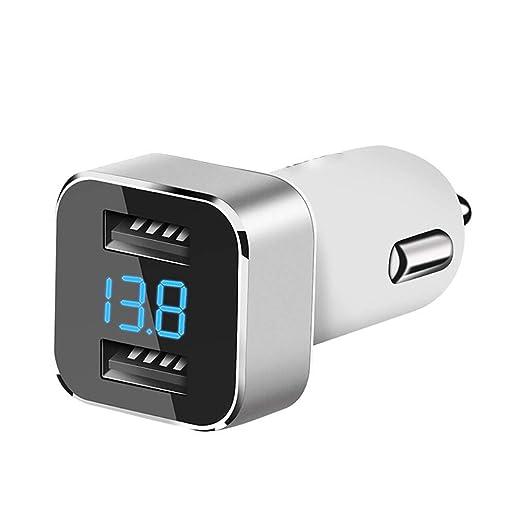 FWQAZ Cargador de Coche con Doble USB Puerto, 24W/4.8A ...
