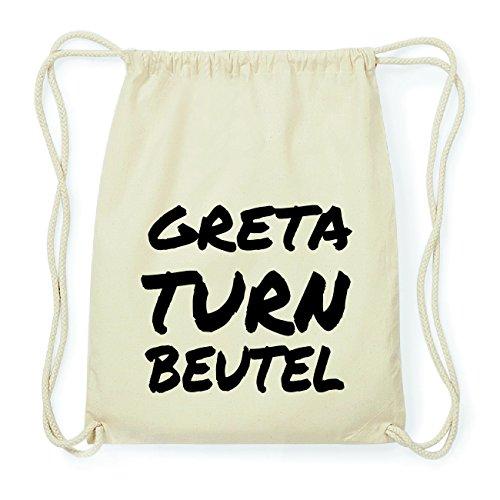 JOllify GRETA Hipster Turnbeutel Tasche Rucksack aus Baumwolle - Farbe: natur Design: Turnbeutel gxgFGV