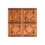 FASÄDE Easy Installation Traditional Style/Pattern #4 Antique Bronze Glue Up Ceiling Tile/Ceiling Panel