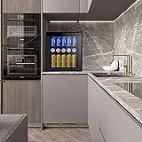BOSSIN Beverage Refrigerator Glass Gray