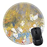 Best Travel Brush For Acryl Oils - MSD Mousepad Round Mouse Pad/Mat 33572660 Abstract oil Review