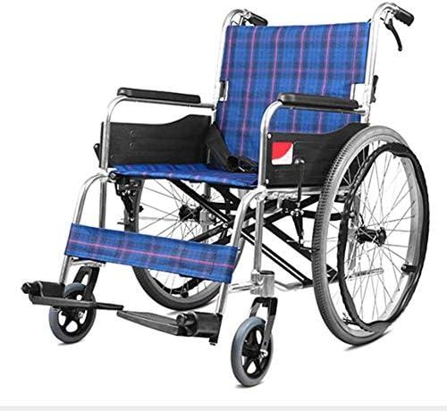 医療用成人医療用品を駆動する軽量の調節可能な折りたたみ車椅子、手動車椅子、高齢者の歩行者、アルミニウム合金車椅子