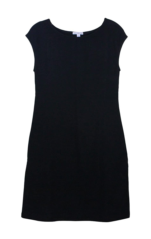 James Perse Black Knit Moleskin Dress