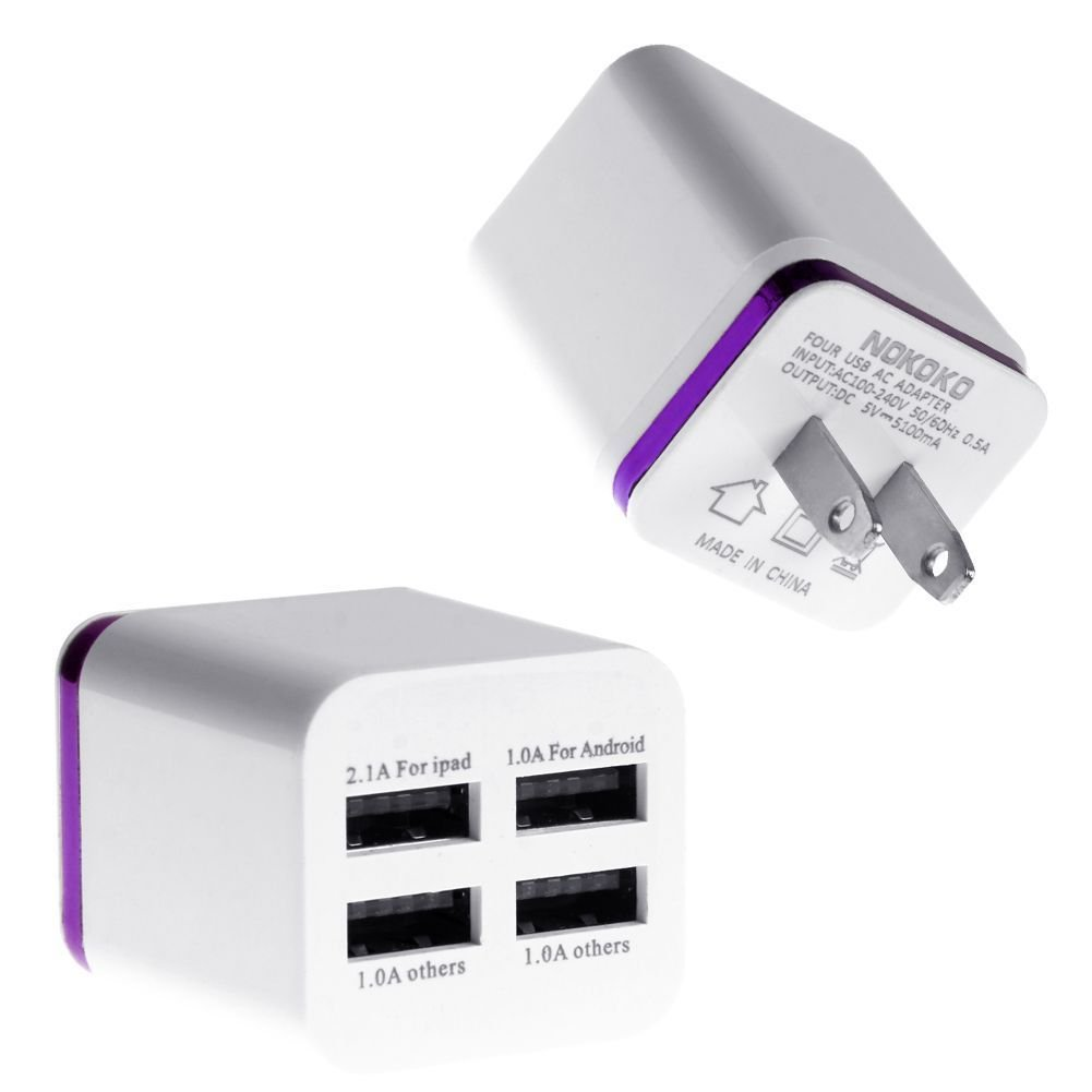 amazon com 4 port usb wall charger for home use fits iphone samsung rh amazon com