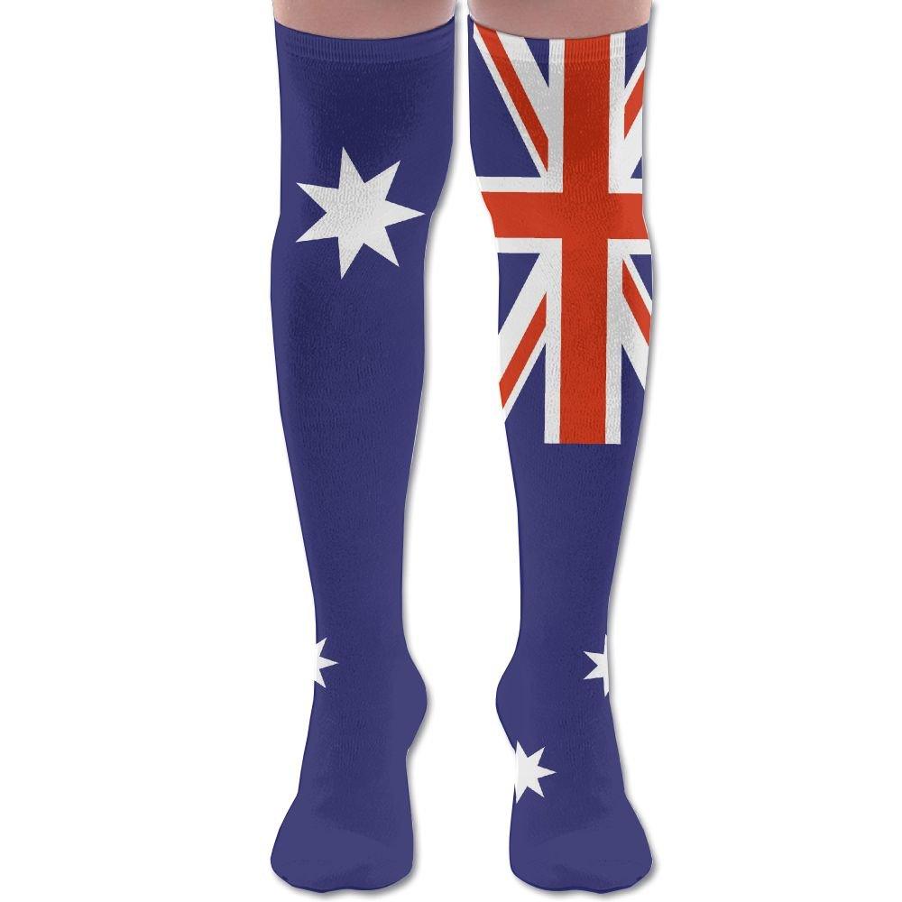 Men Women Australian Flag Casual Novelty Knee High Athletic Sock Outdoor Gift Unisex