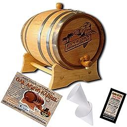 Engraved American Oak Aging Barrel - Design 015: It\'s 5 o\' Clock Somewhere (5 Liter)