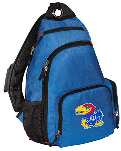 Broad Bay KU Jayhawks Backpack Comfortable University of Kansas Sling Backpacks (Sling Kansas Bag Jayhawks)
