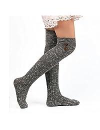 Matoen(TM) Women Long Socks Over Knee High Cotton Sock winter socks pantyhose