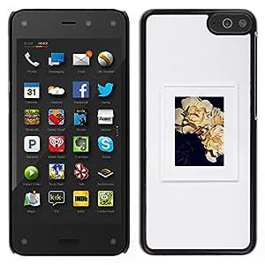 Cartel Gris Arte floral Picture Frame- Metal de aluminio y de plástico duro Caja del teléfono - Negro - Amazon Fire Phone