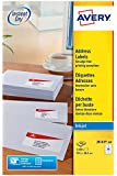 Avery J8163-100 Address Labels for Inkjet Printers (99.1 x 38.1 mm Labels, 14 Labels Per A4 Sheet, 100 Sheets) - White