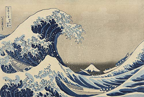 Wooden Japanese Jigsaw Puzzle - Hokusai, The Great Wave Off Kanagawa - 400 Unique Wooden Pieces - Made in The USA by Nautilus Puzzles - Challenge Any Puzzle Lover (Wooden Wave)