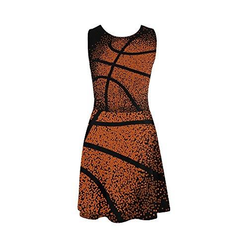 Les Femmes D-histoire Habiller Les Femmes Sans Manches De Basket-ball Robe D'été Robe D'été