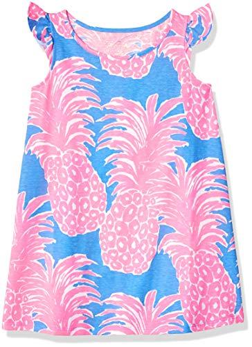 Lilly Pulitzer Girls' Big Ella Dress Blue Haven Little Flamenco, Heaven, M]()