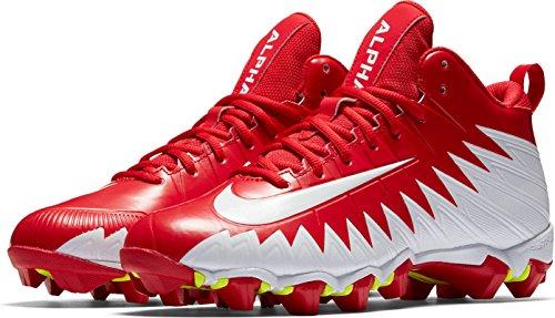 Nike Alpha Dreumes Haaienuniversiteit Rood / Wit / Wit Heren Schoenen Maat 8.5