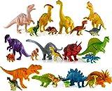 Kyпить 24 Dinosaur Toys For 3, 4, 5, 6, 7 year old Boys Girls Toddlers Kids - Enjoy Cake Top Bath Tub Pool Fun or Pretend Play - T-rex Spinosaurus Triceratops Preschool Action Figures -STEM Learning Dino Set на Amazon.com