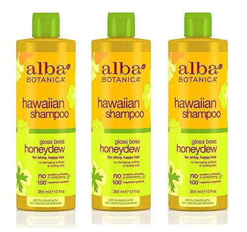 (Alba Botanica Hawaiian Hair Care Honeydew Gloss Boss Shampoo, 12 oz (Set of 3))