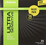 Lifestyles Ultra Sensitive Condoms, 36 Count