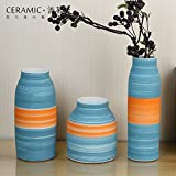 Set of 3pcs ceramic vase Use in Home Office, Decor, Floor Vases, Spa,
