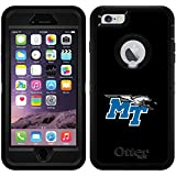 Middle Tennessee State Primary Mark design on Black OtterBox Defender Series Case for iPhone 6 Plus and iPhone 6s Plus