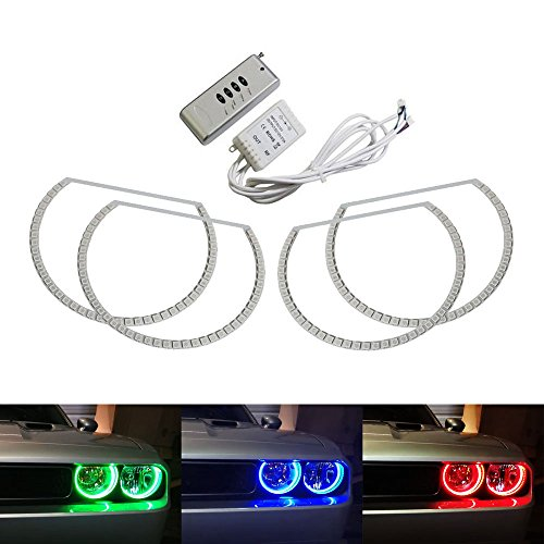 ijdmtoy-180-led-rgb-multi-color-led-angel-eyes-halo-rings-for-2008-2014-dodge-challenger-w-wireless-