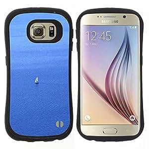 """Hypernova Slim Fit Dual Barniz Protector Caso Case Funda Para Samsung Galaxy S6 [Vela Velero marinero de agua de mar del océano Vela""""]"""