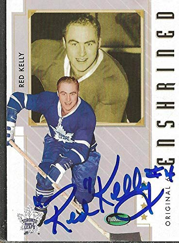 Card 6 Autographed Original - Red Kelly 2003 Parkhurst Original 6 Autograph #85 Maple Leafs - NHL Autographed Hockey Cards