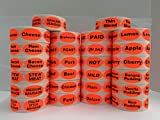 "500 Labels .875"" x 1.25"" Oval Bright Red SPECIAL TODAY Food Retail Packaging Stickers 1 Roll"