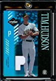 2003 Leaf Limited Tim Hudson Threads Game-Worn Jersey 11/25 Oakland Athletics Baseball Card - Mint Condition - Shipped In Protective Display Case!