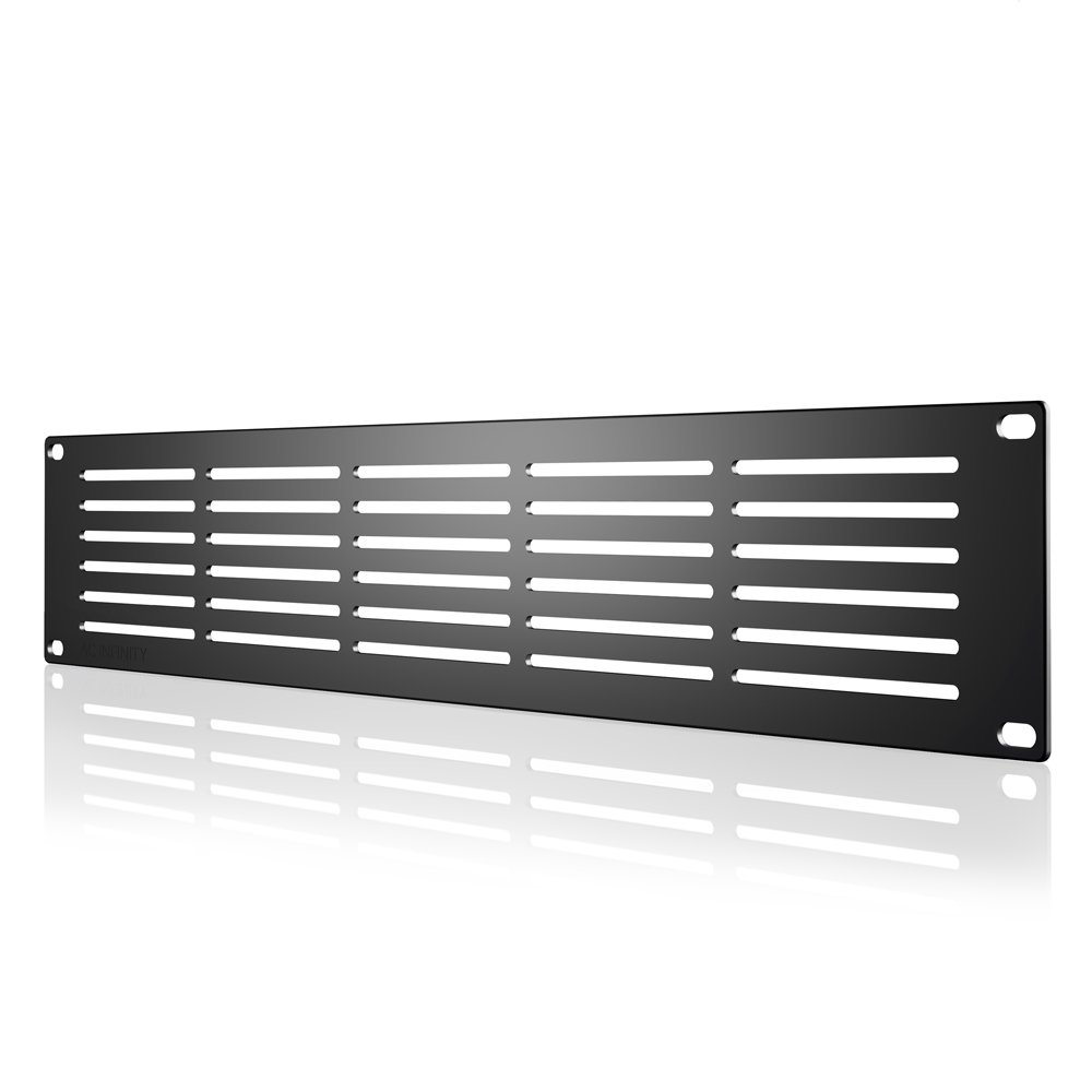 AC Infinity Rack Panel Accessory Vented 2U Space for 19'' Rackmount, Heavy-Duty 3mm Gauge Steel, Black by AC Infinity