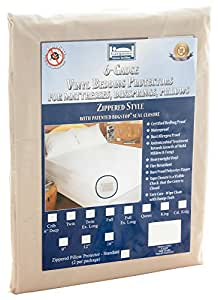 The Allergy Store Vinyl Zippered Mattress Cover, Noiseless, Waterproof, Hypoallergenic, Certified Bed Bug Proof, 6 Gauge, Twin XL, 9-Inch Deep, White