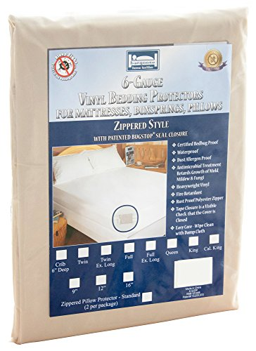 The Allergy Store Vinyl Zippered Mattress Cover, Noiseles...